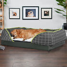 Super Large Orthopedic Dog Bed Sofa Style Chaise Lounger Spine Supportiv Bolster