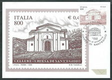 1999 ITALIA CARTOLINA MAXIMUM CHIESA DI SANT'EGIDIO ANNULLO FDC - ED