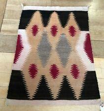"33""x43"" Antique (C1900-1915) Navajo Eye Dazzler Rug Blanket"