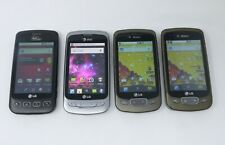 Lot of 4 Working LG Android Smartphones - VM670 / P506 / P509