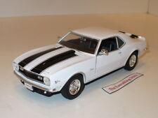 Welly 68 Chevy Camaro Z/28 302 Ci 1:24 White Black Ss Stripes Very Rare