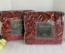Ralph Lauren Euro Shams Medieval Red Velvet New 26x26 BEAUTIFUL!!