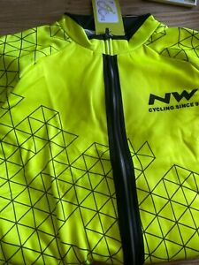 Northwave Yellow/Black XL cycling jacket and bib long pants set, Padded - NEW