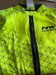 Northwave Yellow/Black XL cycling jacket and bib long pants set, Padded - NEW