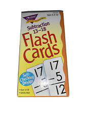 Subtraction 13-18 Skill Drill Flash Cards by Trend Enterprises