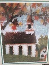 "Country Church Latchhook Kit 15""X20"" Wonder Art Caron New / Sealed"