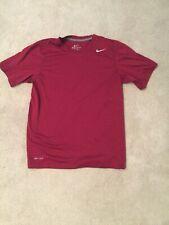 Nike Dri Fit Burgundy Short Sleeve Shirt Size S