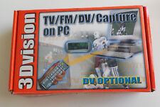 3D Vision TV Tuner FM Tuner Video PCI Capture Card NIB old stock