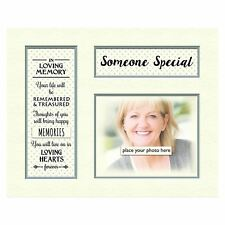 "in Loving Memory Mount Tribute Memorial for Photo Frame 10"" X 8"" Someone Special"