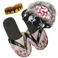 Billy Bob Zombie Complete Halloween Costume Kit - Teeth, Hair, and Shoes