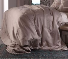 Lili Alessandra Queen Duvet Taupe Silk/Sensibility New!