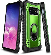 For Samsung Galaxy S10 S10e S10 Plus Case Heavy Duty Magnetic Ring Stand Cover