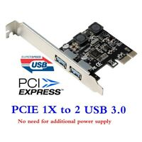 PCI-E To USB 3.0 PCIE Expansion Controller Card 2-Port PCI Express Hub Adapter