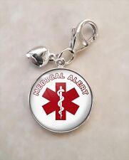 925 Sterling Silver Charm Medical Alert