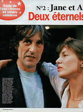 COUPURE de presse PHOTO CLIPPING  Jane et Andrew Birkin