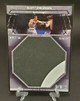 2011 Topps UFC Title Shot Fight Mat Relics Box Topper Scott Jorgensen - WEC 50