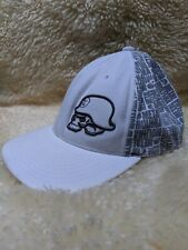METAL MULISHA Embroidered Logo Hat Flexfit Fitted Cap Small Medium S/M White