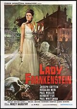 LADY FRANKENSTEIN MANIFESTO CINEMA JOSEPH COTTEN HORROR 1970 MOVIE POSTER 4F