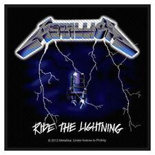 Metallica Black Ride the Lightning sew-on cloth patch  (mm)