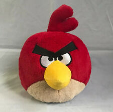 "Angry Birds Red Bird Plush Stuffed Animal Pillow Large Character 7"" Soft"