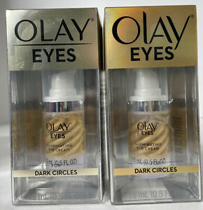 (2) Olay Eyes | Illuminating Eye Cream | For Dark Circles | 0.5 fl oz Per Bottle