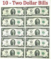 10* USA 2 Dollar 2003 - $2 Banknote Schein X10 - Glücksschein - NEU - bankfrisch