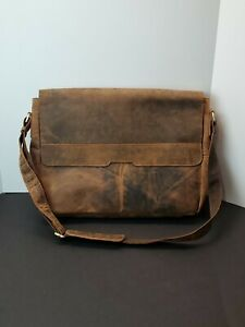 Leather Brief Bag Briefcase Laptop Bag