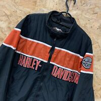 Men's HARLEY DAVIDSON Motorcycle Biker Jacket Bomber Coat XXL 2XL Black