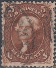 USA Scott #75 5ct Red-brown Used CV $450