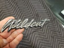 1970 Buick Wildcat Front Fender Emblem Fender Monogram Fender Script Chrome