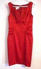 London Style Red Dress size 10 Satin look Empire waist Party slimming Sexy hot