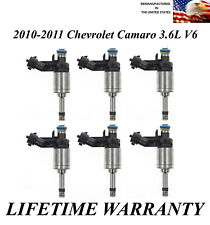 Genuine ACDelco Set of 6 Fuel Injectors For 2010-2011 Chevrolet Camaro 3.6L V6