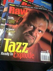 WWF WWE RAW Magazine AUGUST 2000 TAZZ + Tori Diva Poster