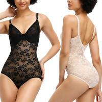 CORSETSECRET Sexy Women Lace Full Body Shaper Shapewear Tummy Control Bodysuit