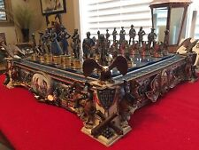 "Franklin Mint Civil War Heroes Of The ""North & South"" - Unused Chess Set/Rare"