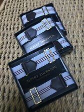 Albert Thurston Adjustable Elastic Armbands for shirt sleeves Grey Stripe