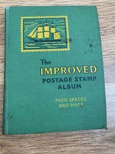 Vintage The Improved Postage Stamp Album