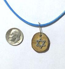 Israeli art Olive wood pendant Necklace with Star of David Judaica Israel P128