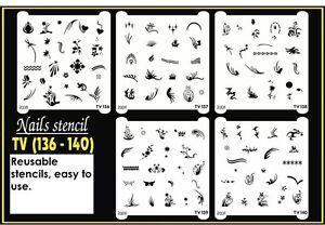 Nail Art Airbrush Stencil (TV 136-140)
