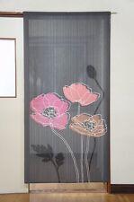 """Noren(Japanese curtain) """"Line Poppy"""" 85×170cm from Japan 2539"""