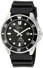 Casio MDV106-1AV 44mm Caja Acero Inoxidable Correa Resina Negra Reloj para Hombre
