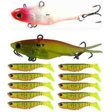 2 Soft Vibes 10 Ripple Shads Soft Plastic Fishing Lures Bream Flathead Bass