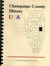 IL Champaign County Illinois Pioneers 1886 Urbana History/Biography plus WPA