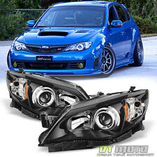 Blk 2008-2011 Subaru Impreza Outback WRX Headlights Headlamps Aftermarket 08-11