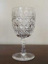 Antique ABP Brilliant Cut Glass Cane & Fan Water Wine Goblet