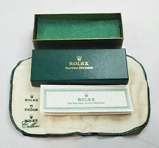 Old Vintage ROLEX Wrist Watch Service Division Box w/Warranty and Cloth