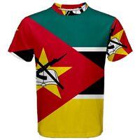 New Mozambique Flag AK-47 Sublimation Men's Sport Mesh Tee T-Shirt Size XS-3XL