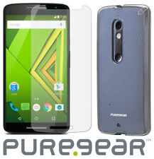 PUREGEAR CLEAR CASE COVER + SCREEN PROTECTOR FOR MOTOROLA DROID MAXX 2 XT1565