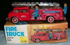 Vintage Tin toy FIRE TRUCK FRICTION WITH SIREN FIRE TRUCK MF 718