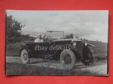 TRIESTE auto automobile FIAT car 1930 vecchia cartolina fotografica